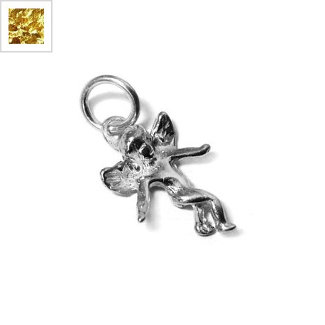 Ασήμι 925 Μοτίφ Άγγελος 15x11mm - Ασήμι Επίχρυσο ΚΩΔ:86020454.002-NG