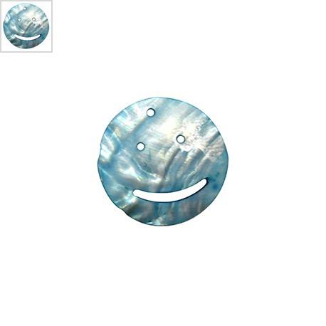 Κοχύλι Μοτίφ Στρογγυλό Πρόσωπο 50mm - Τυρκουάζ ΚΩΔ:74020040.004-NG