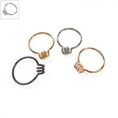 Μεταλλικό Ορειχάλκινο (Μπρούτζινο) Δαχτυλίδι Σπείρα 20mm - Ε-Ρόδιο ΚΩΔ:78010368.324-NG