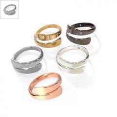 Μεταλλικό Ορειχάλκινο (Μπρούτζινο) Δαχτυλίδι 8x20mm - Ε-Ρόδιο ΚΩΔ:78010374.324-NG