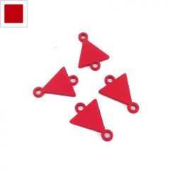 Μεταλλικό Ζάμακ Χυτό Στοιχείο Τρίγωνο για Μακραμέ 10x12mm - Κόκκινο ΚΩΔ:78170122.005-NG