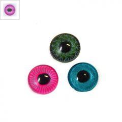 Ακρυλικό Μάτι Καμπουσόν 10mm - Ματζέντα/Μαύρο ΚΩΔ:71020938.002-NG