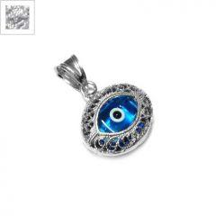 Ασήμι 925 Μοτίφ Μάτι Φιλιγκρί 13.5mm - Silver ΚΩΔ:86060102.003-NG