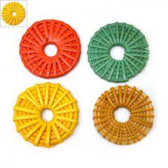 Ρατάν Μοτίφ Κύκλος Περίγραμμα (~40mm) - Κίτρινο ΚΩΔ:76030007.004-NG
