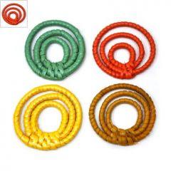 Ρατάν Μοτίφ 3  Κύκλοι Περίγραμμα (~42mm) - Πορτοκαλί ΚΩΔ:76030011.003-NG