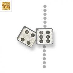 Μεταλλικό Ζάμακ Χυτό Μοτίφ Ζάρι Περαστό 10mm - 24K Επίχρυσο ΚΩΔ:78411013.022-NG