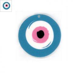 Πλέξι Ακρυλικό Μοτίφ Στρογγυλό Μάτι 50mm - Άσπρο/Γαλάζιο/Άσπρο/Ροζ/Μαύρο ΚΩΔ:71460093.018-NG
