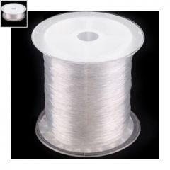 Ελαστικό Κορδόνι Σιλικόνης 1.0mm - Διαφανές ~ 25m/καρούλι ΚΩΔ:77100019.252-NG